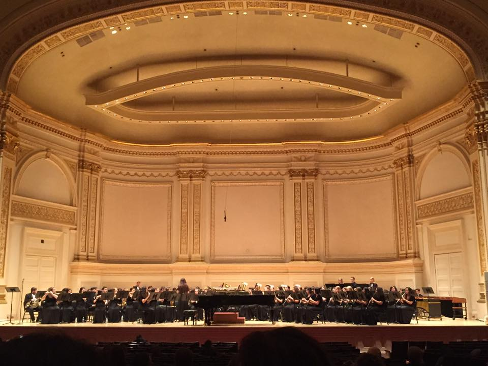 Seguin Band on the stage of Carnegie Hall